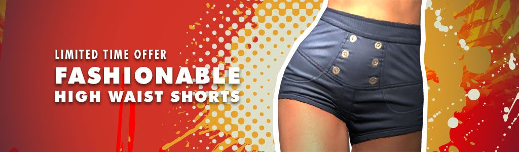 Fashionable High Waist Shorts
